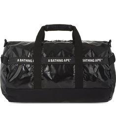 A BATHING APE Logo print nylon duffle bag