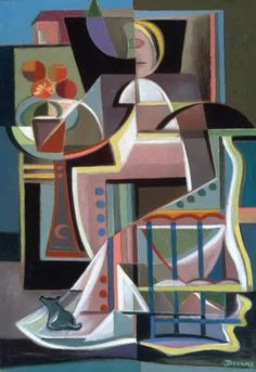 Werner Drewes Woman on a Balcony 1947