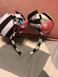 ad0122aa0e3 Extra Off Coupon So Cheap Floral Striped mouse Ears