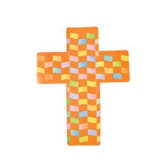 "Colorful Cross Weaving Mats. Kids love to design their own crosses! An inspirational craft activity for Sunday School, Vacation Bible School or church camp, this faith-filled set includes 160 double-sided paper strips plus 2 dozen 8 1/2"" x 11"" cardboard mats. © OTCAge Recommendation:Ages 5 & Up: Containing medium-sized pieces with the occasional angular edge, these lightweight to sturdy crafts may require some assembly such as stringing beads or gluing items to create a 3-dimensional project."