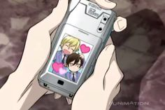 I practically died during this!!! And when Éclair threw the phone in the water D,': But how did he get Haruhi to stay still for the picture? Ouran High School Host Club