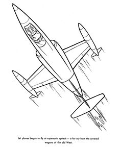 Free Printable Jet Coloring Sheets And Pictures Of Airplanes Are Fun For Kids Book Page