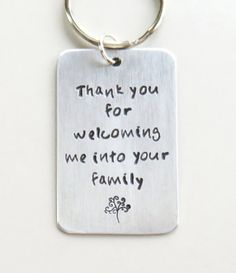 Father-in-law gift Mother-in-law gift - Thank you family tree keychain - Thank you for welcoming me into your family - In-laws gifts Unusual Wedding Gifts, Wedding Day Gifts, Wedding Stuff, Wedding Ideas, Handmade Wedding, Dream Wedding, Father In Law Gifts, Mother Gifts, Gifts For Mom