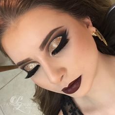 30 best fall makeup looks and trends for 2020 5 Bridal Hair And Makeup, Bride Makeup, Wedding Makeup, Hair Makeup, Fall Makeup Looks, Glam Makeup Look, Make Up Gold, Eye Make Up, Dance Makeup