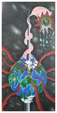 Last Tears of the Planet- art by Boglarka Birthday Candles, Planets, Cake, Kuchen, Torte, Cookies, Cheeseburger Paradise Pie, Tart, Pastries
