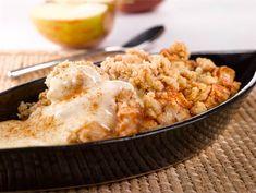Omena-kaurapaistos Healthy Baking, Healthy Treats, Finnish Recipes, My Cookbook, Something Sweet, Vegan Desserts, Food Inspiration, Macaroni And Cheese, Deserts