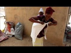 Baby carrier - African style - YouTube