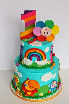 Popular Baby First Birthday Cake Pictures First Birthday Cake Pictures, Girls First Birthday Cake, Cute Birthday Cakes, Birthday Ideas, Baby First Cake, Baby Tv Cake, Baby Cakes, Baby First Tv, My Little Pony Equestria