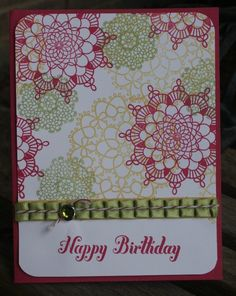 Stampin Up delicate doilies card