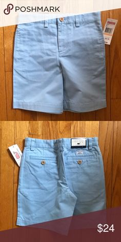 275f9c5f82 NWT Vineyard Vines Club Shorts Jake Blue Size 7 NWT 100% cotton twill  shorts.