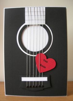 "And now for something a little bit different! I made some ""music themed "" cards for this month's Cardmaking and Papercraft magaz. Love Cards, Diy Cards, Tarjetas Diy, Karten Diy, Cardmaking And Papercraft, Valentine Day Cards, Valentine Cards, Masculine Cards, Creative Cards"