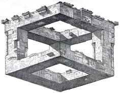 Istvan Orosz Optical Illusions Drawings, Art Optical, Illusion Drawings, Illusion Kunst, Illusion Art, Mc Escher, Isometric Drawing, Fantasy Inspiration, Elements Of Art