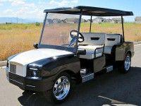 Royal Limo custom golf cart at Luxury Carts