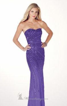 Silk Chiffon Dress by Alyce Prom 8898