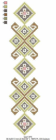 Border Embroidery Designs, Embroidery Stitches, Broderie Bargello, Textiles, Cross Stitch Charts, Needlepoint, Bohemian Rug, Needlework, Diy And Crafts