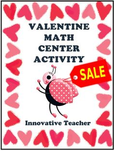 This Valentine Math Center Activity can be done with PreK – K students. It is a fun way for your students to practice counting to 10.