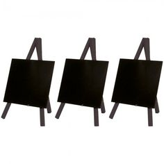 pack of 3 Mini Black Easels with Chalkboard Just £17.40!  Next Day Delivery. Overall 150 x 240mm. A6 Chalkboard.  #chalkboard #display #tabletop