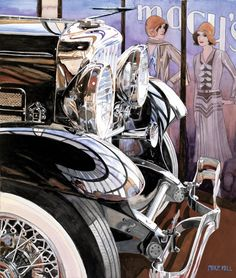 automobile watercolor gouache painting, Mike Hill art | artists and painters art contest