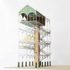Flower market and café-tower in Escher-Wyss Platz . Architecture Visualization, Architecture Drawings, Interior Architecture, Architecture Models, Concept Architecture, Amazing Architecture, Zurich, Timber Structure, 3d Modelle