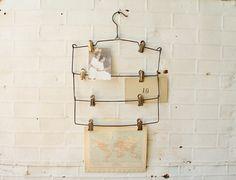 Vintage Metal Hangers  Photo & Art Display  8 Metal by KnickofTime