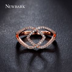Find More Rings Information about NEWBARK Women Rings Double Cross Heart…