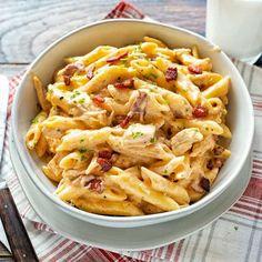 Cheesy Ranch Chicken Pasta #chicken #pasta #ranchchicken #ranch #dinnerrecipes