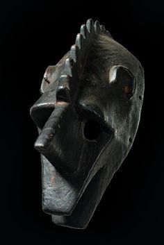 "Hyaena mask ""suruku"" of the ""korè"" society, Mali, Bamana"