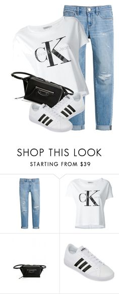 """Casual"" by monmondefou ❤ liked on Polyvore featuring White House Black Market, Calvin Klein Jeans, Balenciaga and adidas"