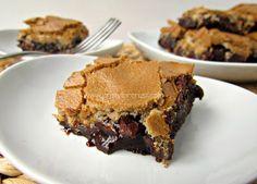 Brownie Mud Hen Bars   crazyforcrust.com   #brownie #meringue