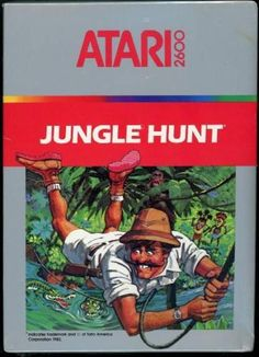 Jungle Hunt (Atari for sale online Vintage Video Games, Classic Video Games, Retro Video Games, Vintage Games, Video Game Art, Atari Video Games, Game Of The Day, Games Box, Pc Games