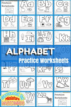 Basic Concept Alphabet Practice Worksheets Free Printables Here is another installment in the Preschool basic book. This books is all about ABCs. Each page has the upper and lower case letters, ima… Preschool Letters, Preschool Curriculum, Preschool Printables, Learning Letters, Preschool Learning, Kindergarten Worksheets, Preschool Writing, Homeschooling, Preschool Classroom