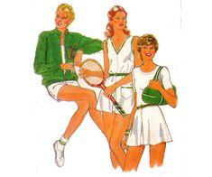 80s Jacket Shorts Skirt Tennis Dress by allthepreciousthings