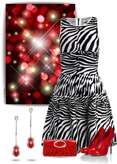 """Diamond & Red Enamel Earrings"" by diamondcrazy on Polyvore"