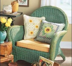 Use these colorful stencil designs to make home decorating quick and easy. Learn how to use stencil designs to make a cheerful Sunflower Pillow.