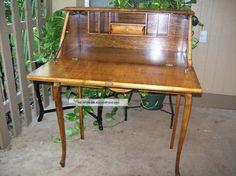 Antique Ladies Writing Desk   Antique Maple Drop Lid Ladies Writing Desk 1900-1950 photo