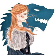 Children's books Illustrator в Instagram: «My favorite Sansa 🖤Ну вот,наконец, и я решила перерисовать свою старую картинку, надеясь отследить прогресс. Мне казалось,что мой стиль…» Dear Friend, Princess Zelda, Illustration, Fictional Characters, Art, Art Background, Kunst, Illustrations, Performing Arts