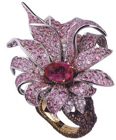 Giant magnolia ring by Faberge (relaunched in Sept. 2009 after 90 years in hiatus).