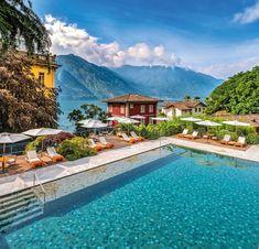 Lake Hotel, Hotel Pool, Comer See, Best Honeymoon, Honeymoon Ideas, Vacation Ideas, Hotel Architecture, Beautiful Pools, Travel Aesthetic