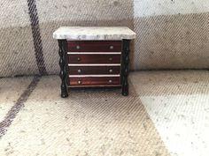 Antique German Dollhouse Wooden Furniture c1890.Boulle/Biedermeier/Waltershausen