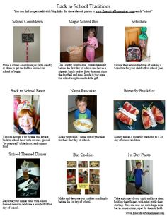 first day of school ideas and activities