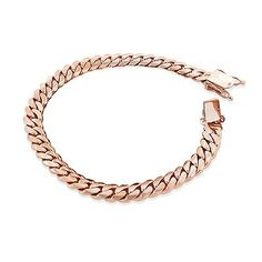 This Rose Gold Miami Cuban Link Curb Chain Bracelet