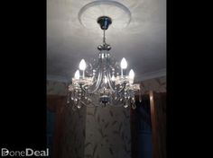 Glass and brass acorn shaped chandelier | Ideas for Damhnait ...