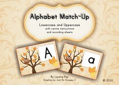 Alphabet Match-Up AUTUMN: lower case & upper case letters