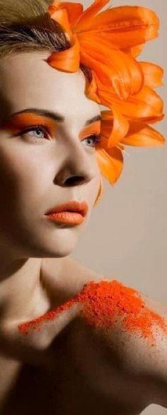 Orange You Glad, Orange Fashion, Orange Crush, Eye Art, Pantone, Rainbow Colors, Her Hair, Orange Color, Different Colors