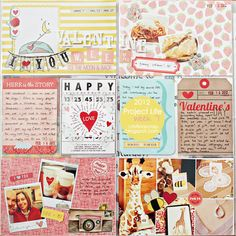 #papercraft #scrapbooking #ProjectLife 2012 - Week 7 by Cristina - The Lilypad Gallery
