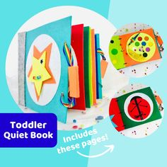 Ready to Ship Quiet Books for Baby, Toddler & PreSchool Kids- Personalized Handmade Felt Busy Books- Best Birthday Gift- Montessori Activity Educational Activities For Kids, Montessori Activities, Book Activities, Educational Toys, Steam Learning, Learning Toys, Tracing Letters, Best Birthday Gifts, Busy Book