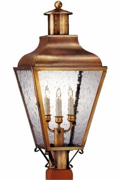 Portland Post Light Outdoor Copper Lantern