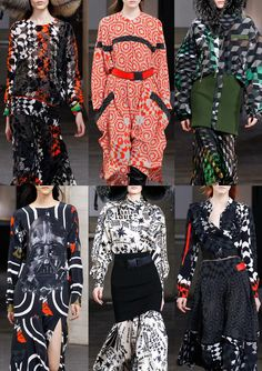 London Fashion Week   Autumn/Winter 2014/2015   Print Highlights   Part 1 catwalks