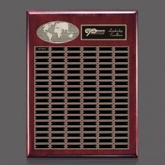 Promotional Products Ideas That Work: World Perpetual Plaque (Vert) - Rosewood 108 Plate. Get yours at www.luscangroup.com