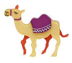 Erstwilder Miss Sahara camel brooch Cat Jewelry, Animal Jewelry, Resin Jewelry, Jewellery, Rockabilly Fashion, Rockabilly Style, Quirky Gifts, Mammals, Bag Accessories